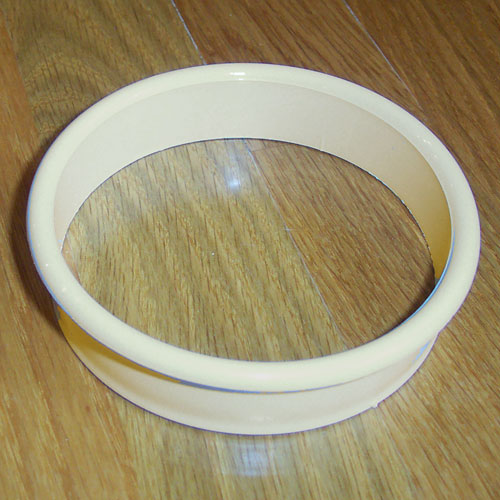 Plastic Trash Grommets Bore Hole Diameter 4 1 8 In Finish White