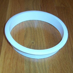 "6"" x 1"" White Plastic Trash Management Grommet"