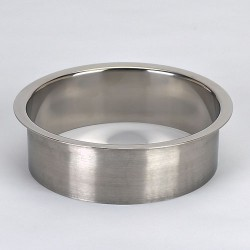 """6"""" x 2"""" Polished Stainless Steel Trash Grommet"""